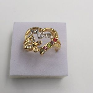 To mom with LOVE ❤️ 18K GOLD FILLED Size 9